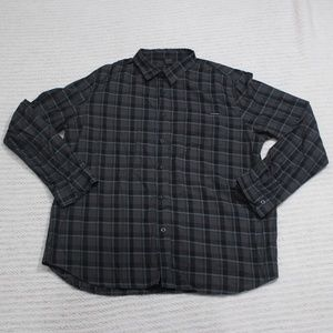 Oakley Men's Dark Plaid Button Down Size XXL